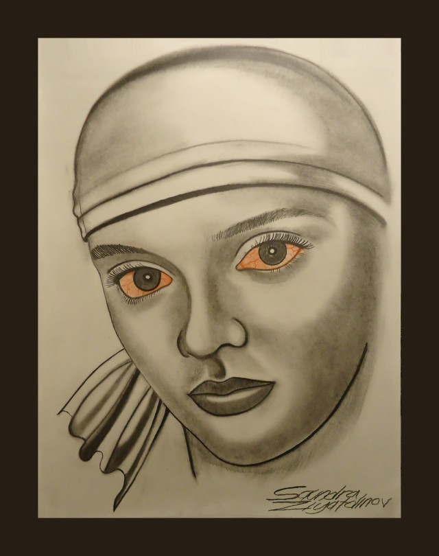 Red Eye spirit possession. Graphite pencil on paper. 18x24in. c. 2012